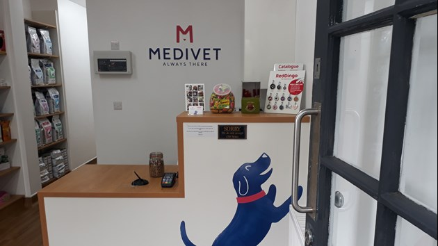 Medivet reception area